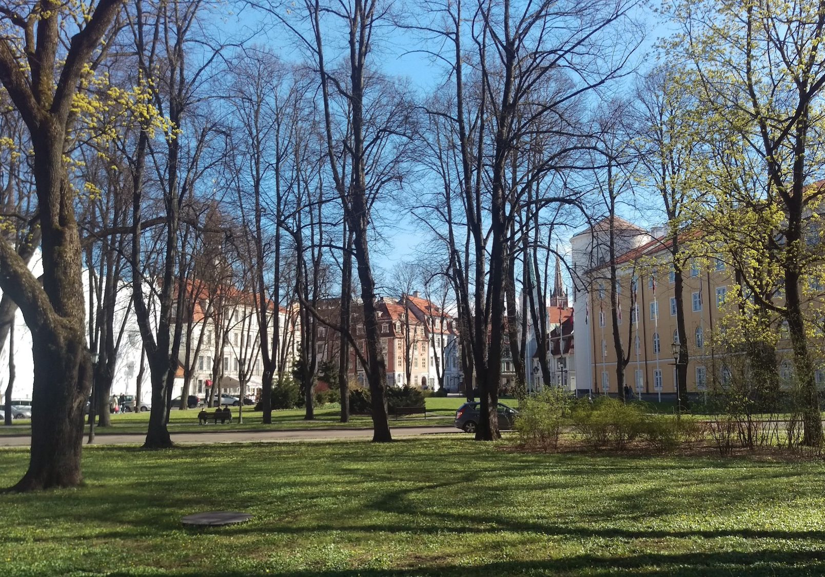 Riga castle park area is a great place for a quick break