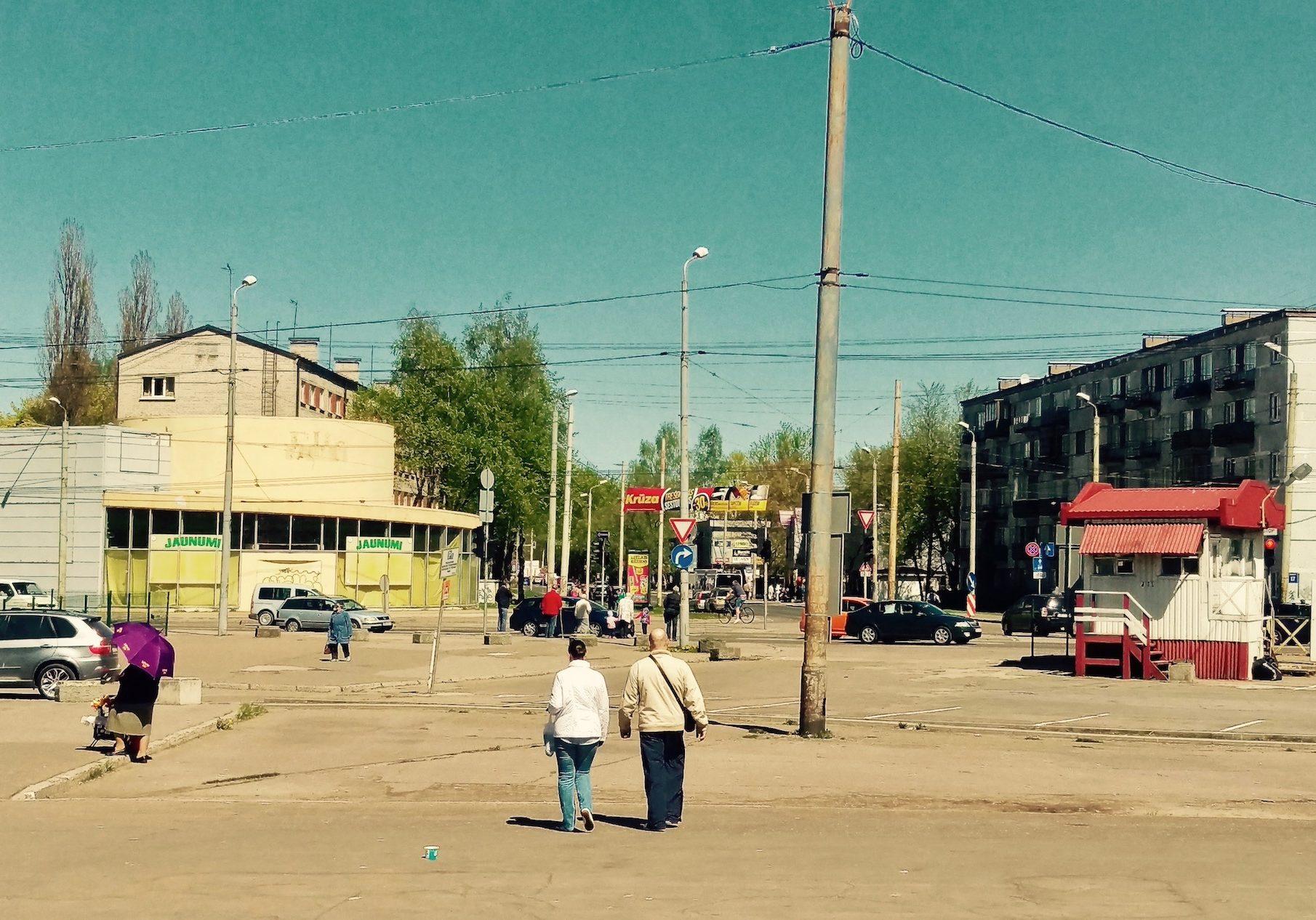 Area that surrounds shopping center Minska
