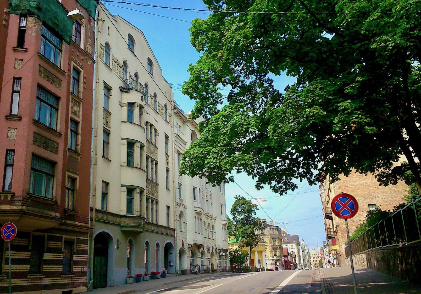 Residential buildings on Lacplesa Street