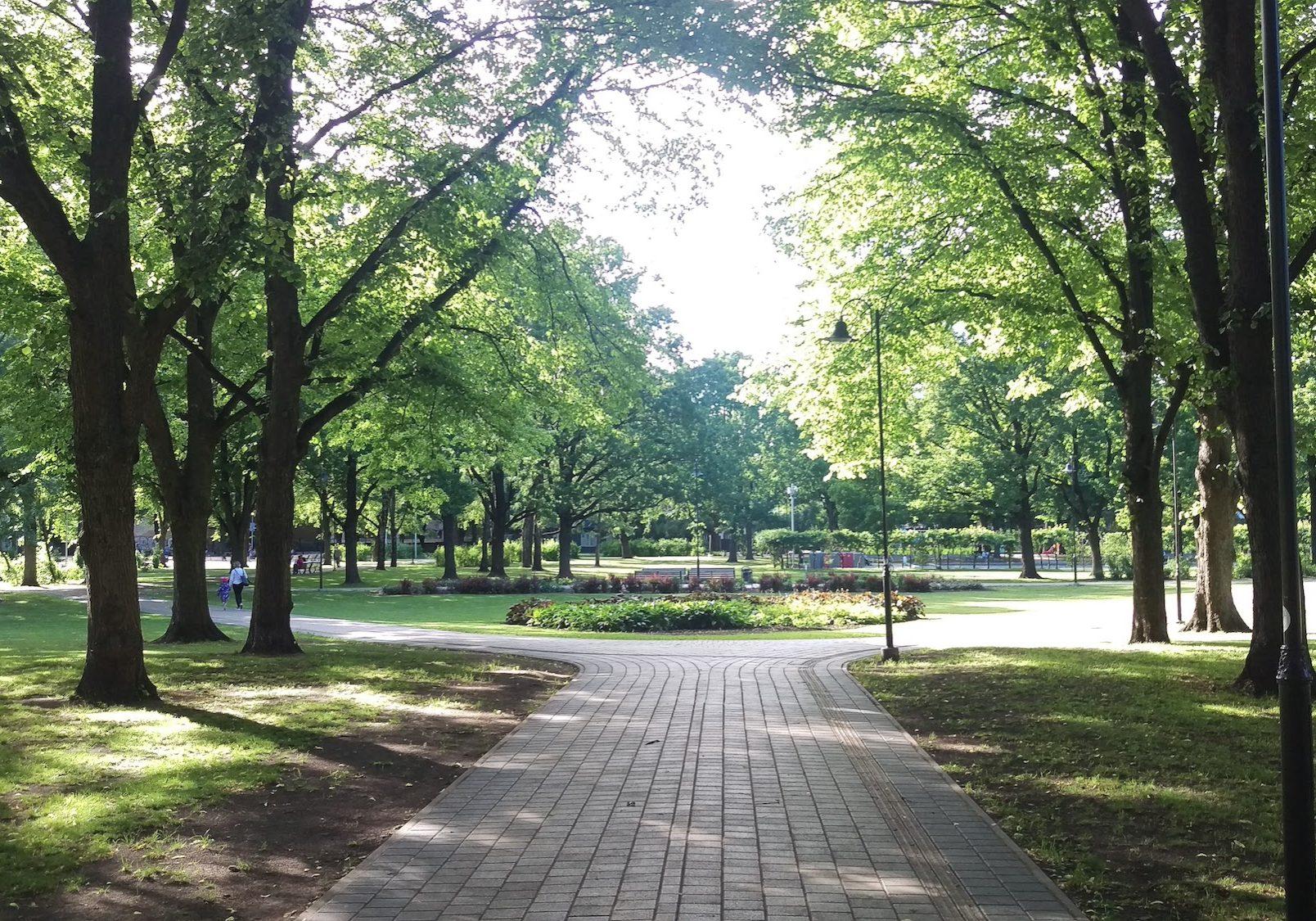 Ziedoņdārzs garden park is a great place for running