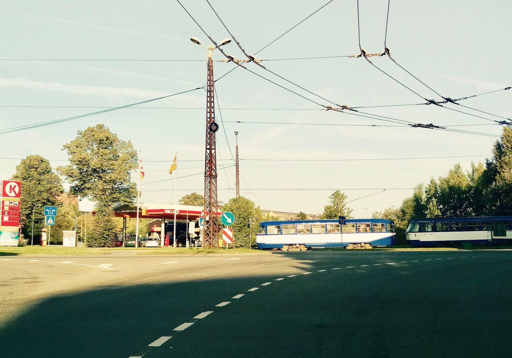 Tram line in Sarkandaugava