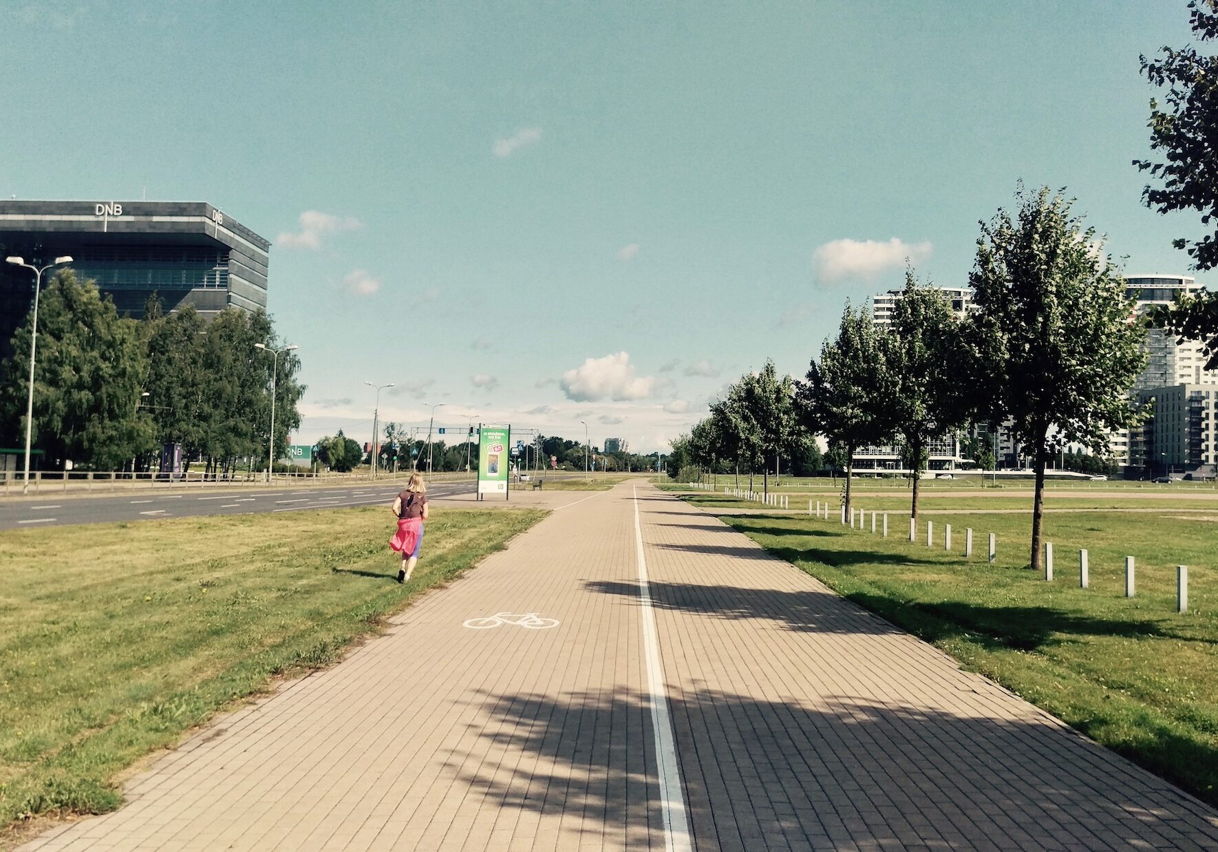 Running and biking path