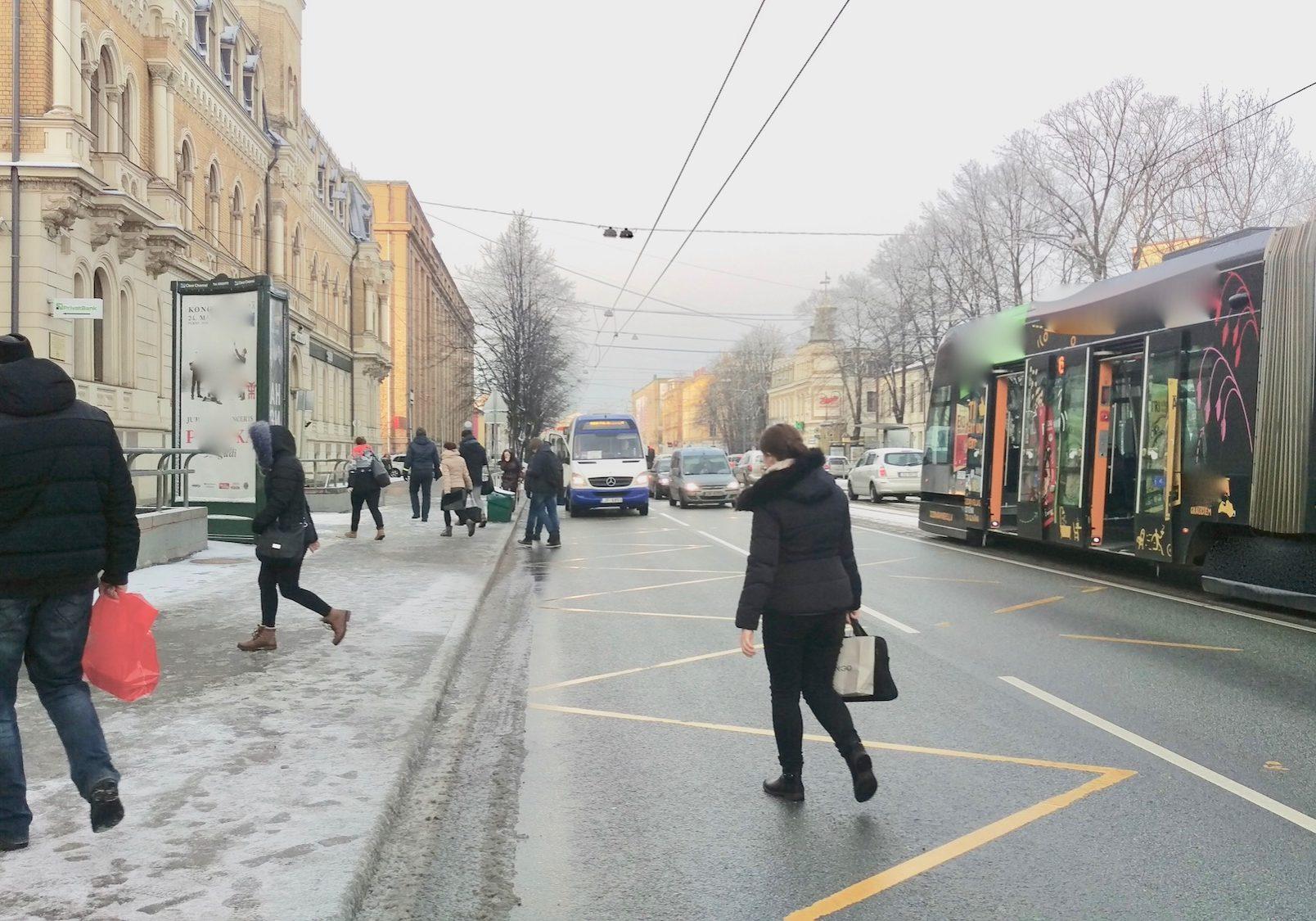 6 Tram line on Brivibas Street