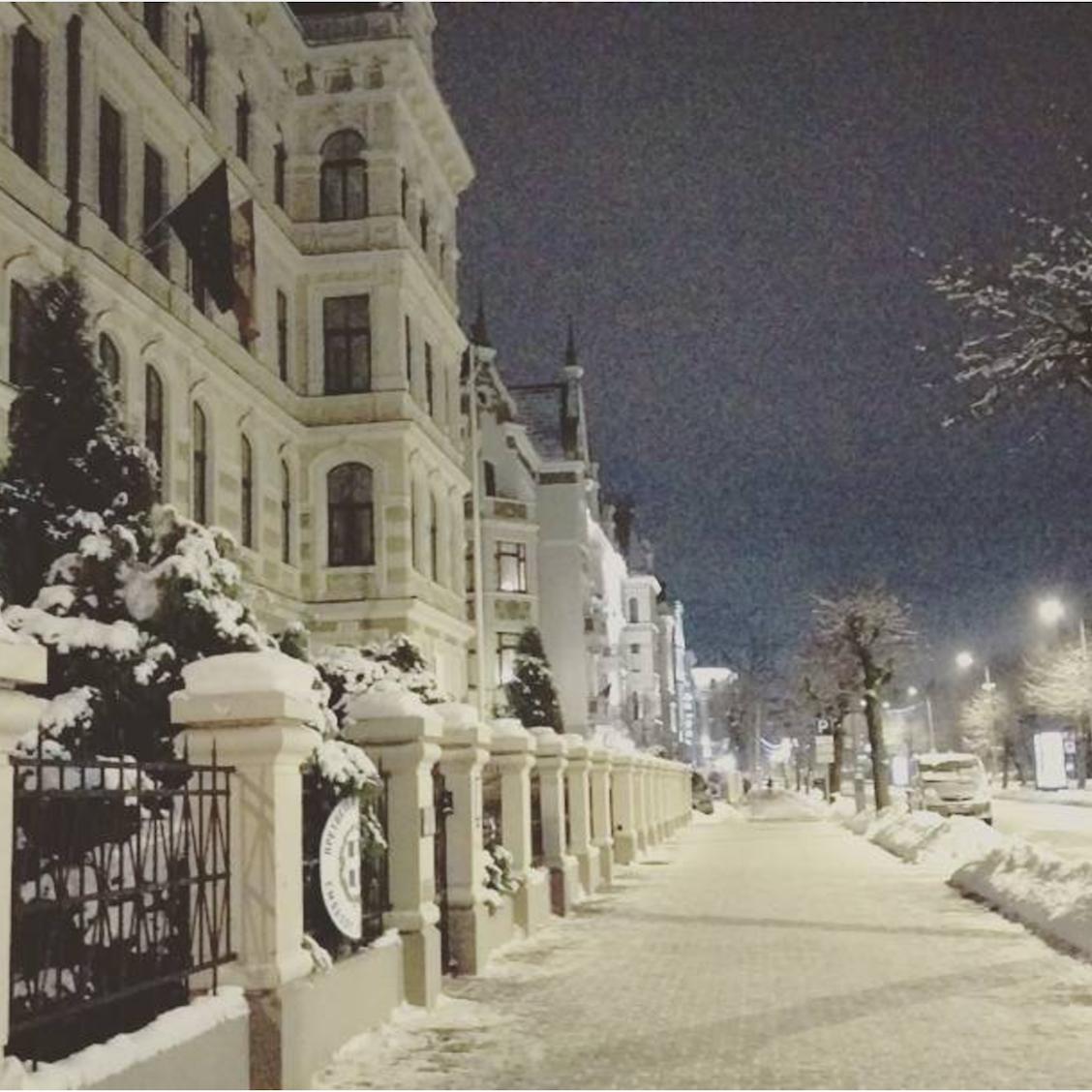 Klusais centrs ziemas laikā